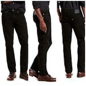 MENS Levi's 511 Black Jeans W32 L30